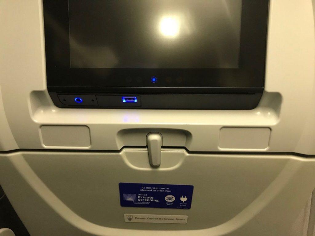 ユナイテッド航空の充電設備