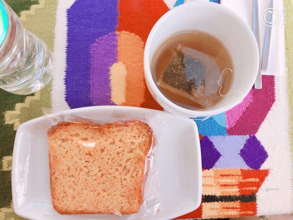 キャロットケーキと高山病に効くというお茶